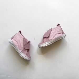Vans pink Velcro soft bottom shoes VGUC size 3